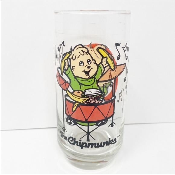 Vintage Theodore Alvin and the Chipmunks Glass